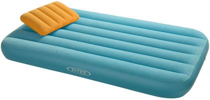 intex kids single air bed blue