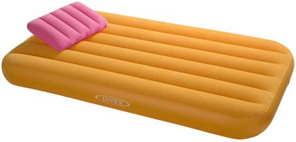 intex kids single air bed yellow