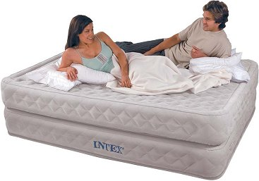 9e070306b0f Intex Queen Size Supreme Air-Flow Airbed with Built-in Electric Pump. This  revolutionary airbed from Intex is the closest you ll get to a traditional  bed!