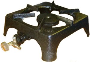 The single cast iron boiling ring is our most popular option