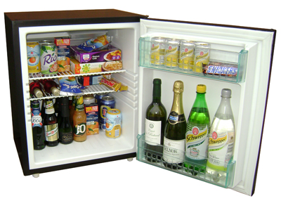 Black JL60 mini fridge tabletop bruhne