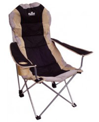 Black Royal Adjustable Folding Camp Chair