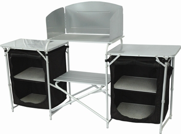 Camp kitchen and camping cooker stands uk for Kitchen set aluminium royal
