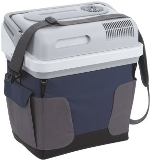 Waeco coolbox S-25 12v cool box closed with shoulder carry strap