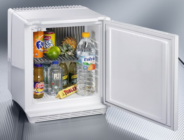 White Mini fridge DS200 Silencio minicool can fit large bottles up to 1.5L