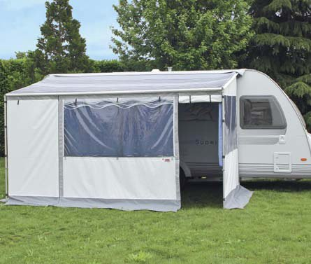 The Fiamma Caravanstore Zip, a great alternative to the bulky traditional caravan awning in position