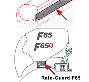Rain Guard for Fiamma Awnings blocking that gap between awning and van