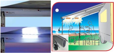 Fiamma Awning LED light twin pack adding light in a convenient and economical way