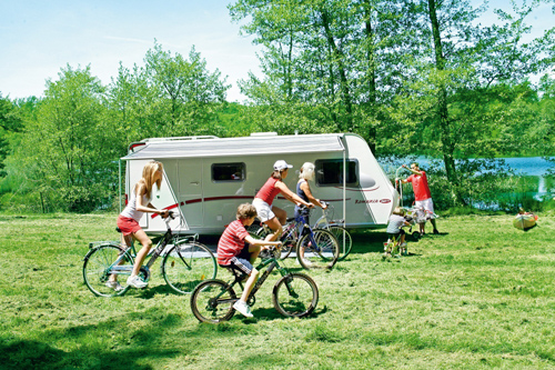 The convenient Fiamma Caravanstore awning