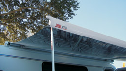 The F65 is a solidly built awning with its stronger and larger holding box.