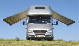 Fiamma F65 Motorhome awning ready for lift off!