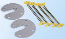 Fiammastore Plate 2 piece kit with 8 pegs and 2 plates