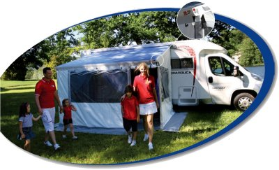 fiamma zip system awning for use with a motorhome