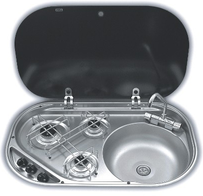 Smev MO8323R Hob and Sink