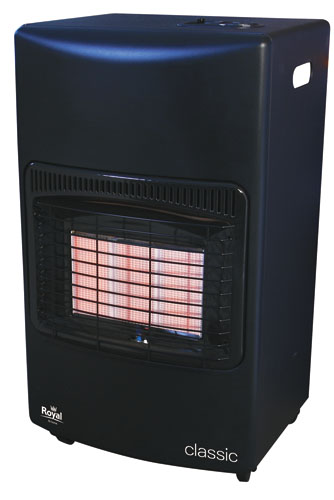 Royal Classic Black mobile gas heater