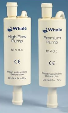 whale in line water booster pump for use in the caravan and motorhome