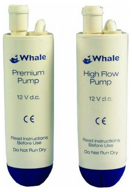 whale premium and high flow submersible water pump for use in the caravan and motorhome