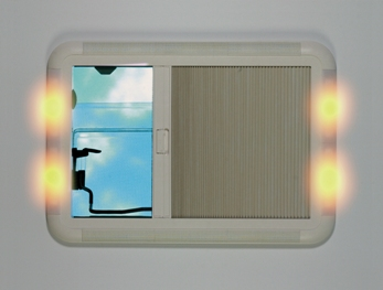 seitz heki 2 deluxe caravan and motorhome roof light with 4 lamps for a subdued lighting effect