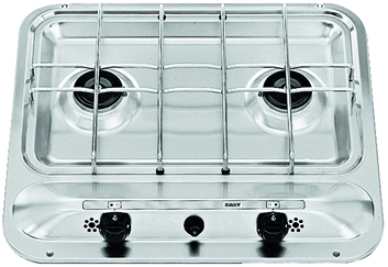 SMEV PI909 2 burner caravan hob with piezo and safety ignition