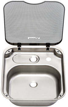 Thetford Spinflo Basic Line Rectangular Caravan Sink With Glass Lid Series  34