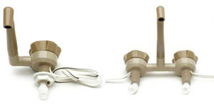 Beige Comet Novo single and mixer taps caravans and motorhomes
