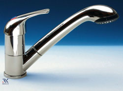 Julia head caravan and motorhome shower tap by Reich