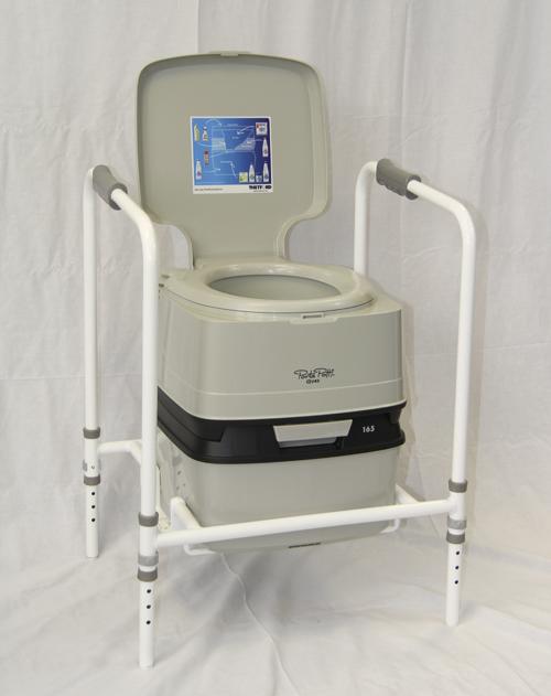 portable toilet frame for disabled elderly use