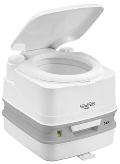 New to the range the Thetford Porta Potti Qube 335 replacing the old 335 small camping toilet