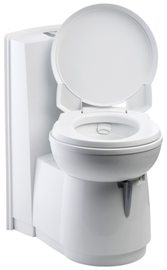 The Thetford Caravan and Motorhome Cassette chemical Toilet C-250CWE with swivel seat