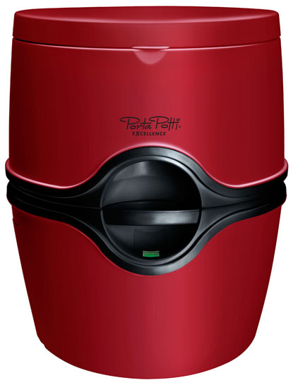 Porta Potti Excellence portable chemical toilet Ruby Red