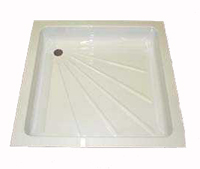 585 mm by 585 mm caravan and  motorhome shower tray