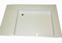 Universal shower tray for use in the caravan and motorhome
