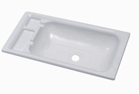 Rectangle Vanity Basin for use in the caravan and motorhome