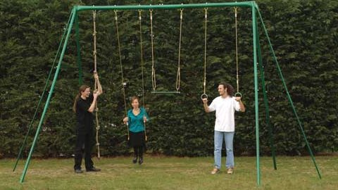 Adult swings are made from larger diameter steel and have a higher swing ...