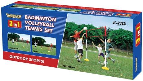 3 in 1 Kids Tennis Badminton Volleyball set