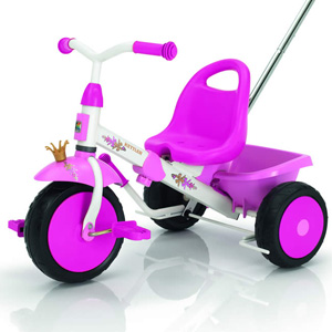 Kettler pink Happy Princess kids ride on pedal trike tricycle