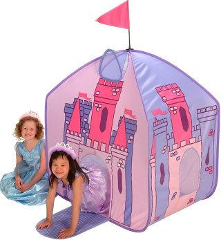 Kids Pink and purple princess castle girls pop up play tent  sc 1 st  Jacksons-C&ing & Kids pop up play tents and childrens beach sun shelters