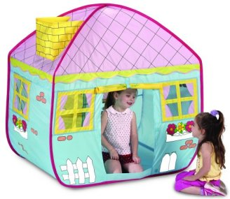 Childrens country cottage pop up playhouse play tent  sc 1 st  Jacksons-C&ing & Kids pop up play tents and childrens beach sun shelters
