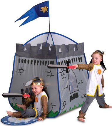 Grey Knights castle kids pop up play tent for children  sc 1 st  Jacksons-C&ing & Kids pop up play tents and childrens beach sun shelters