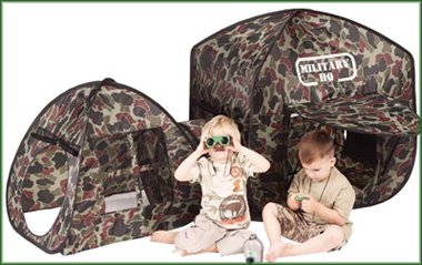 Kids Millitary HQ camouflage fun den childrens pop up play tent & Childrens Pop Up Play Tents Tunnels Playhouses