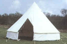Traditional type bell tent with Dutch laced entrance 69cm. Roll-up walls. Made from 12oz proofed white British treated canvas and comes complete with ... & Relum ridge scout patrol and mess tents Traditional camping ...