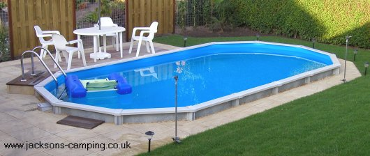 Above ground swimming pools uk for Above ground swimming pools uk