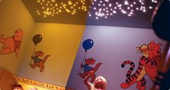 Kids bedroom lit up with a fibre optic star ceiling kitFibre optic light star ceiling kits small UK. Fibre Optic Ceiling Lights Uk. Home Design Ideas